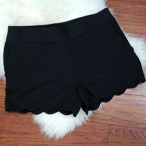 LOFT Black Flat Front Shorts